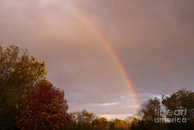 Photograph - Autumn Double Rainbow by Deborah Smolinske