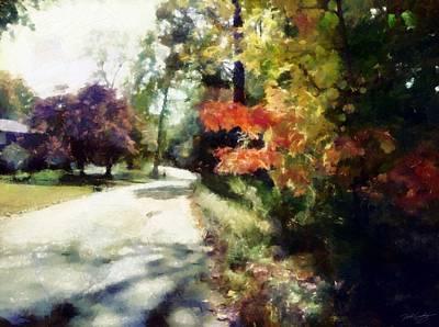 Digital Art - Autumn Drive by Derek Gedney