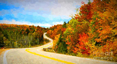 Photograph - Autumn Drive Through Algonguin Park by Les Palenik