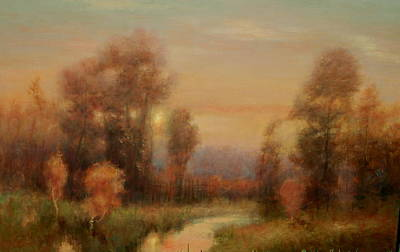 Painting - Autumn Evening Glow by Richard Hinger