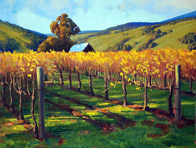 Salamanders Painting - Autumn Evening Napa by Armand Cabrera