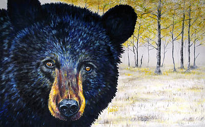 Kodiak Painting - Autumn Eyes by Teshia Art