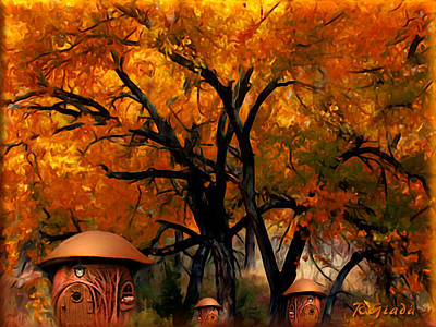Autumn Fairies Resort Art Print