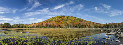 Vermont Wilderness Photograph - Serene Pond Vermont Autumn Panorama by Andy Gimino