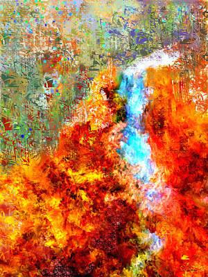 Vivid Colour Painting - Autumn Falls by Jo-Anne Gazo-McKim