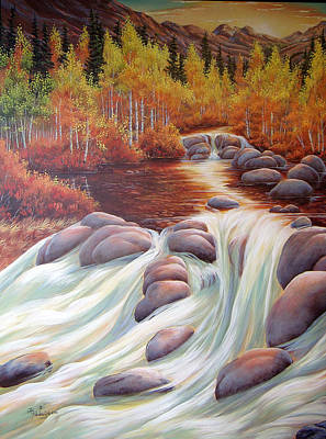 Painting - Autumn Falls by Lori Salisbury