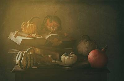 Pumpkin Photograph - Autumn family Portrait by Delphine Devos