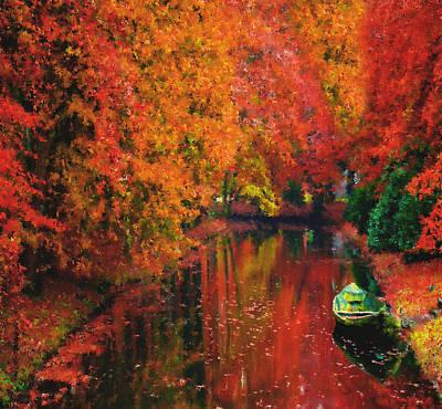 Beautiful Painting - Autumn Fantasy by Georgiana Romanovna