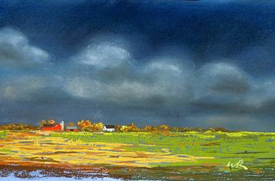Art Print featuring the painting Autumn Farm by William Renzulli