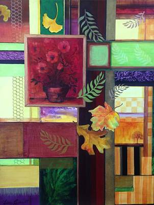 Painting - Autumn Faux Collage  by Edna Garrett