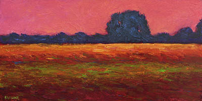 Autumn Field Dusk Art Print by Vernon Reinike