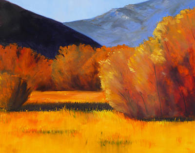 Wyoming Painting - Autumn Field by Nancy Merkle