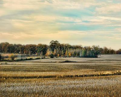 Fall Scenes Photograph - Autumn Fields - Landscape by Jai Johnson