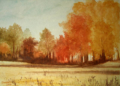 Painting - Autumn Fields New Jersey by Kathryn Donatelli