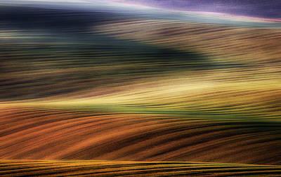 Dirt Photograph - Autumn Fields by Piotr Krol (bax)