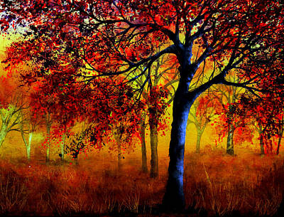 Rainbow Painting - Autumn Fire by Ann Marie Bone