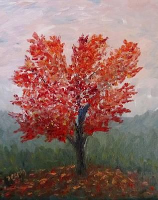 Autumn Fire Art Print by Nancy Craig