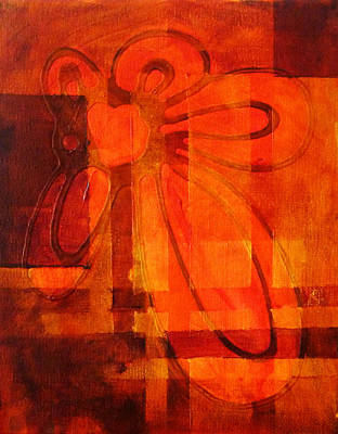 Organic Forms Painting - Autumn Fire by Nancy Merkle