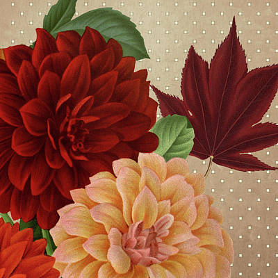 Autumn Flare Square 2 Art Print by Gail Fraser