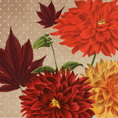 Autumn Flare Square 3 Art Print by Gail Fraser