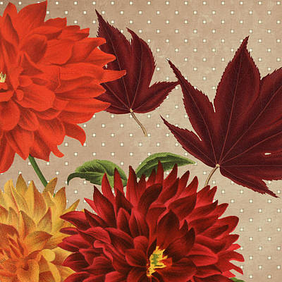 Autumn Flare Square 4 Art Print by Gail Fraser