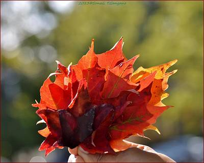 Autumn Flower Art Print by Sonali Gangane