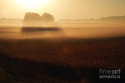 Photograph - Autumn Fog by Larry Ricker