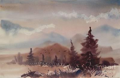 Autumn Fog Art Print by Micheal Jones