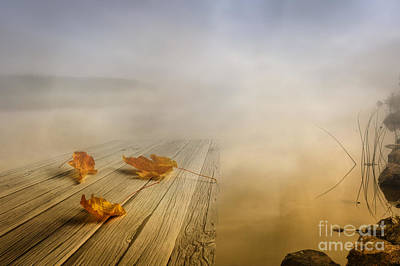 Autumn Landscape Digital Art - Autumn Fog by Veikko Suikkanen