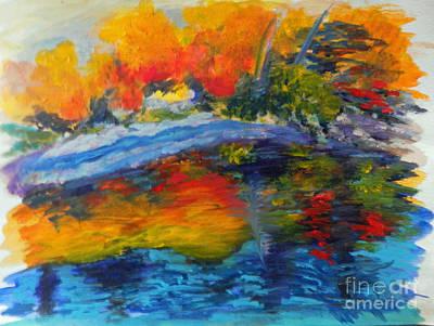 Autumn Landscape Mixed Media - Autumn Foliage by CA  Teresa