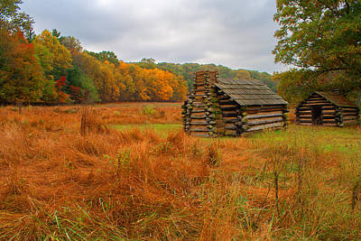 Photograph - Autumn Foliage In Valley Forge by Michael Porchik