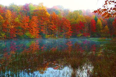 Autumn Foliage Art Print by Lanjee Chee