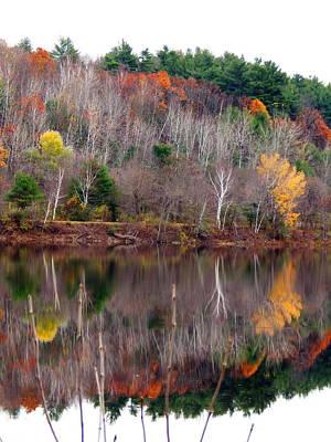 Photograph - Autumn Foliage River Reflection by Expressionistart studio Priscilla Batzell