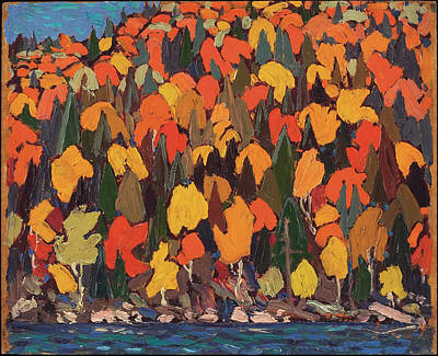 Tom Thomson Painting - Autumn Foliage by Tom Thomson