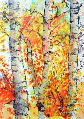 Painting - Autumn Forest by Dion Dior