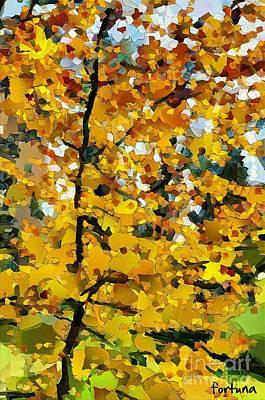 Rural Scenes Digital Art - Autumn Forest by Dragica  Micki Fortuna