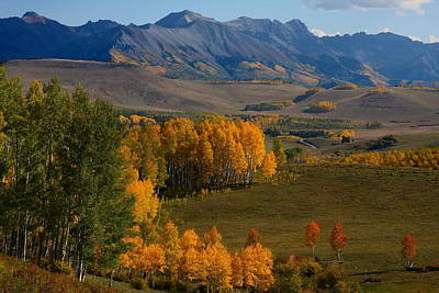 Autumn From Silver Pick Road In Colorado Print by Jetson Nguyen