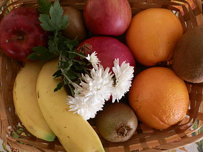 Photograph - Autumn Fruit Basket by Valerie Bruno