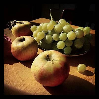 Grapes Photograph - Autumn Fruits by Barbara Orenya