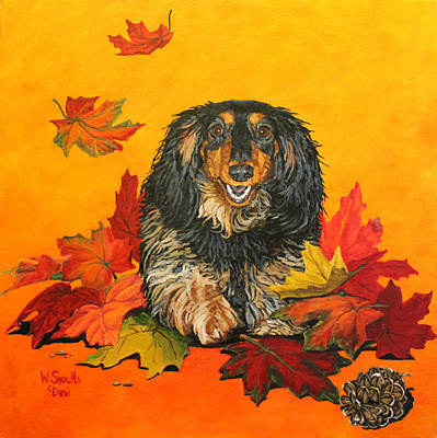 Art Print featuring the painting Autumn Fun by Wendy Shoults
