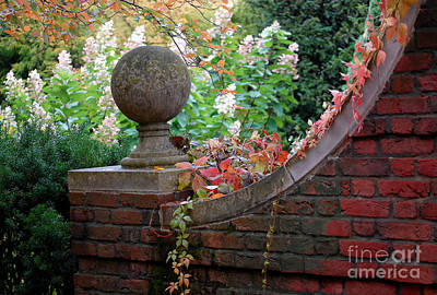 Walkway Digital Art - Autumn Garden by Glenn Morimoto