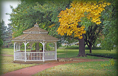 Photograph - Autumn Gazebo   by Ann Powell