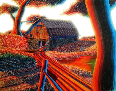 Burning Bush Digital Art - Autumn Glow by Aaron Myerly