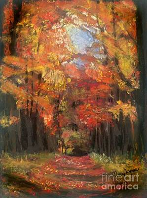 Art Print featuring the painting Autumn Glow by Mary Lynne Powers