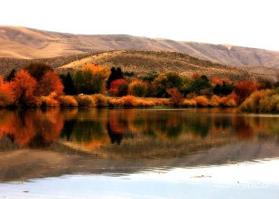 Photograph - Autumn Glow On The Yakima River by Carol Groenen