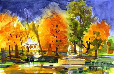 Gazebo Painting - Autumn Gold 2 by Kip DeVore