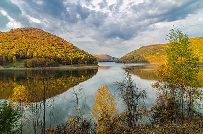 Kinzua Photograph - Autumn Golden Hour by Jim Sommers
