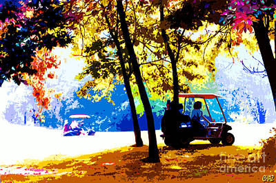 Sports Paintings - Autumn Golf by CHAZ Daugherty