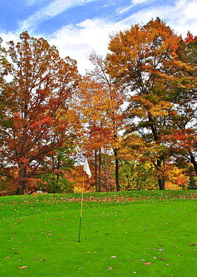 Autumn Golf Art Print by Frozen in Time Fine Art Photography