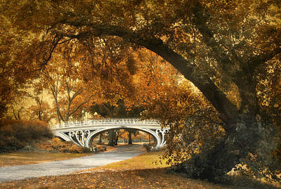 Gothic Bridge Photograph - Autumn Gothic by Jessica Jenney